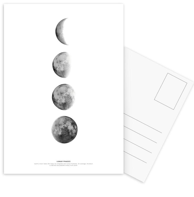 Phases of the Moon -Postkartenset