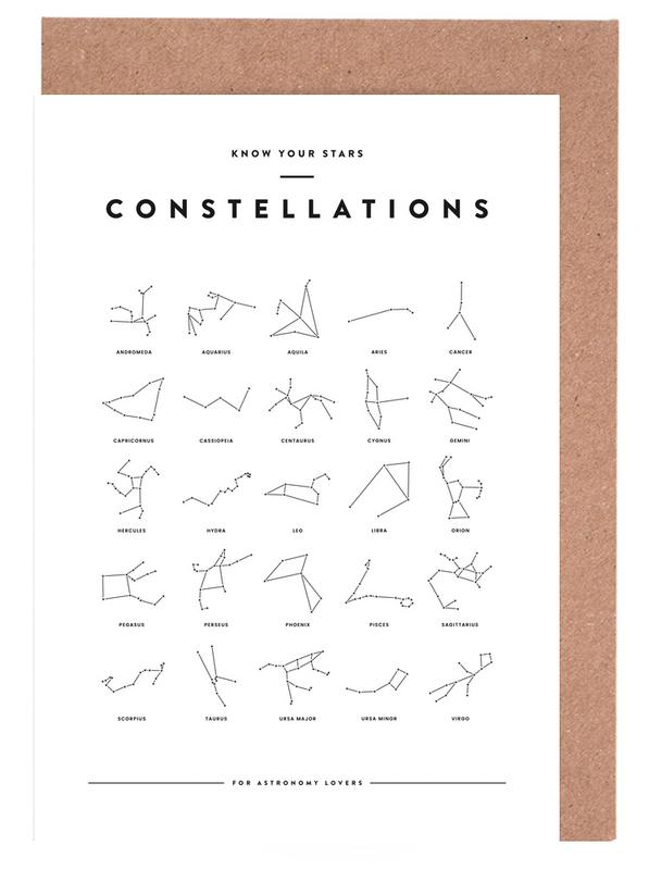 Constellation Chart cartes de vœux