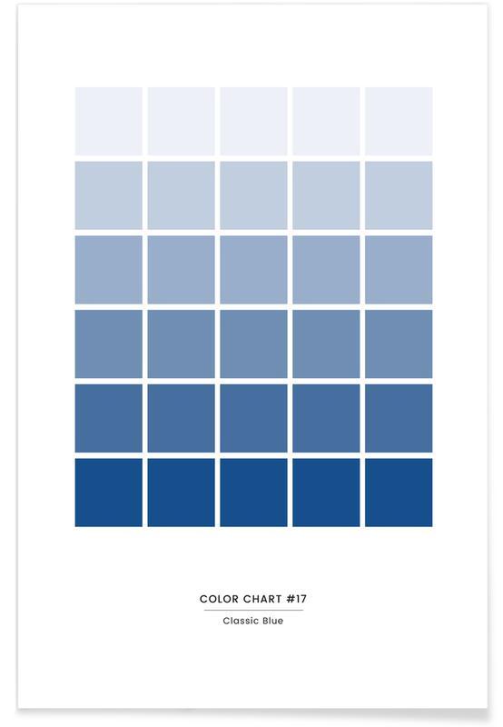 , Classic Blue #17 Plakat