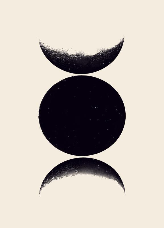 Monochrome Moon Canvastavla