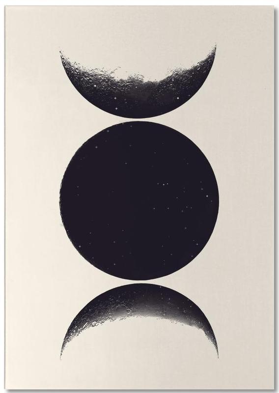 Mond, Schwarz & Weiß, Monochrome Moon -Notizblock