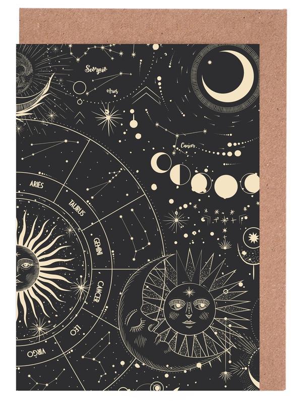 , Astrology Wheel -Grußkarten-Set