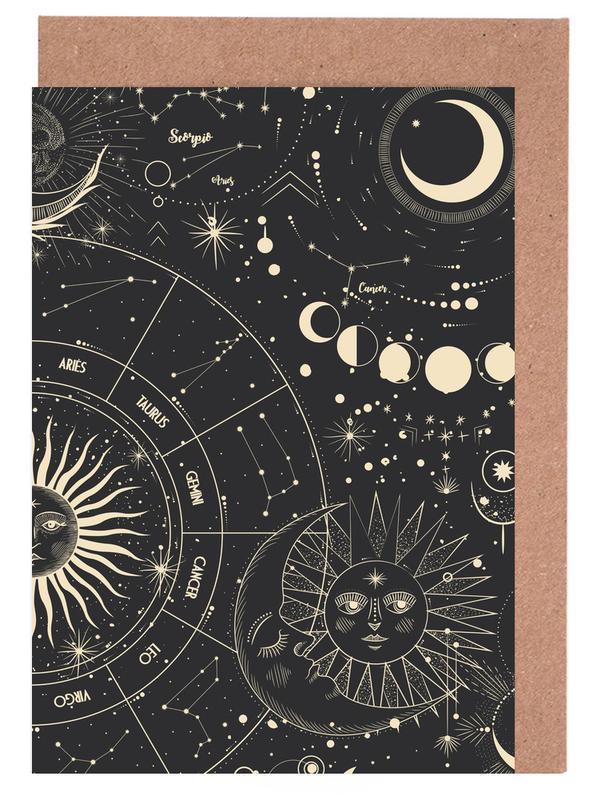 Astrology Wheel cartes de vœux