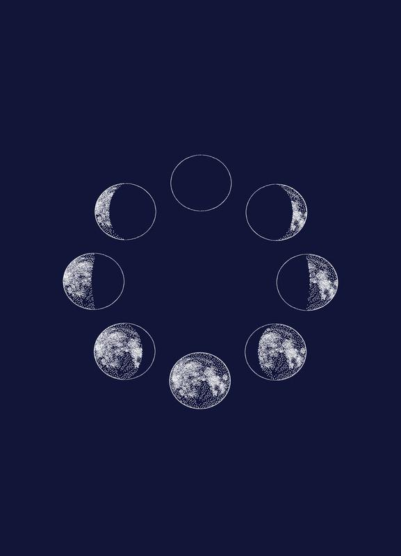 Blue Moons Canvastavla