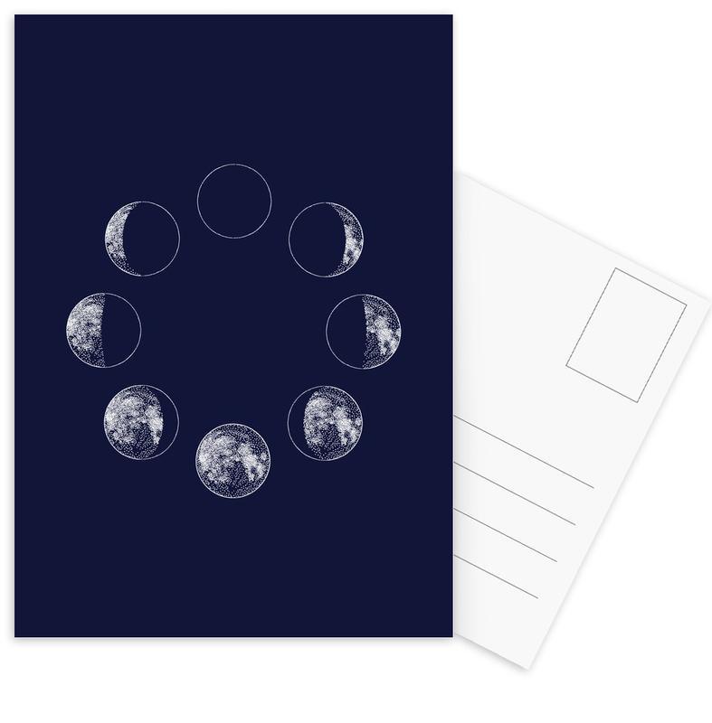 Blue Moons -Postkartenset