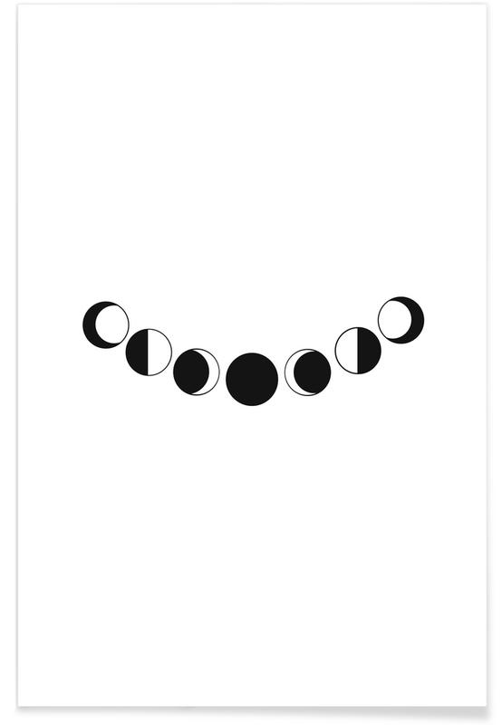 Abstract Moons poster