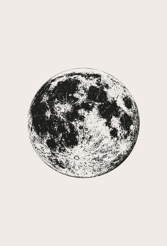 Lunar tableau en verre