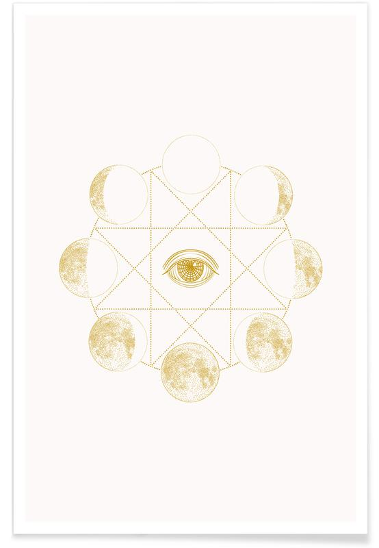 Måne, Cosmic Plakat