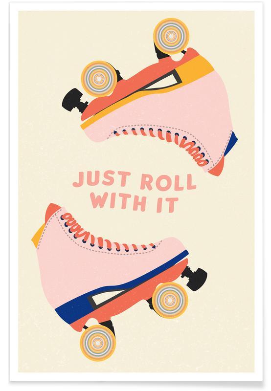 Motiverende, Roller Skates Plakat