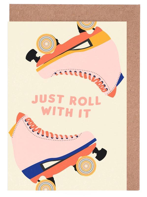 Roller Skates -Grußkarten-Set