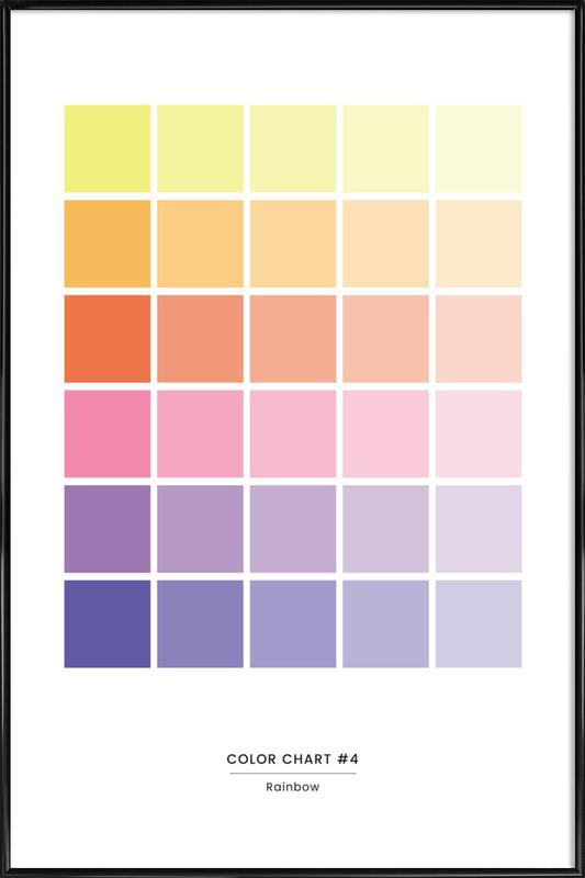 Rainbow -Bild mit Kunststoffrahmen