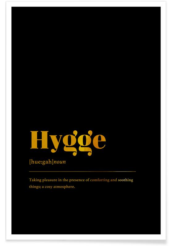 Motivation, Hygge-Gold -Poster