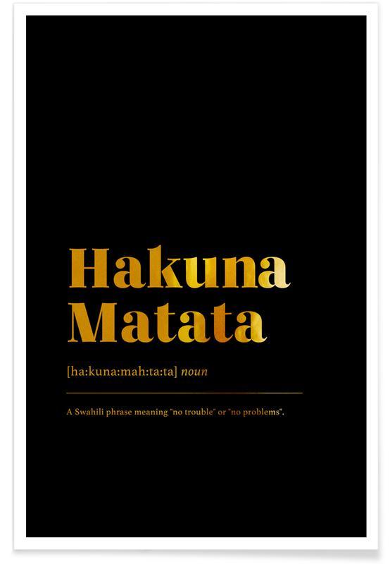 Motiverende, Film, Hakuna Matata Guld Plakat