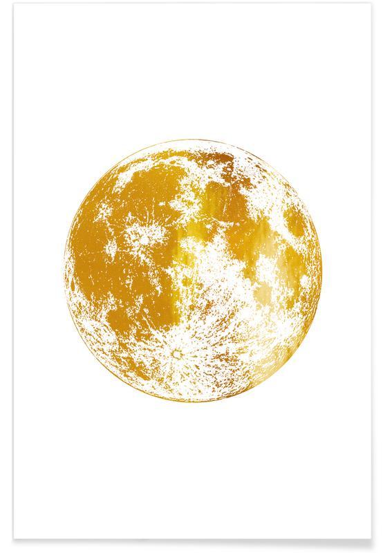 Lune, Lunar - Or - affiche