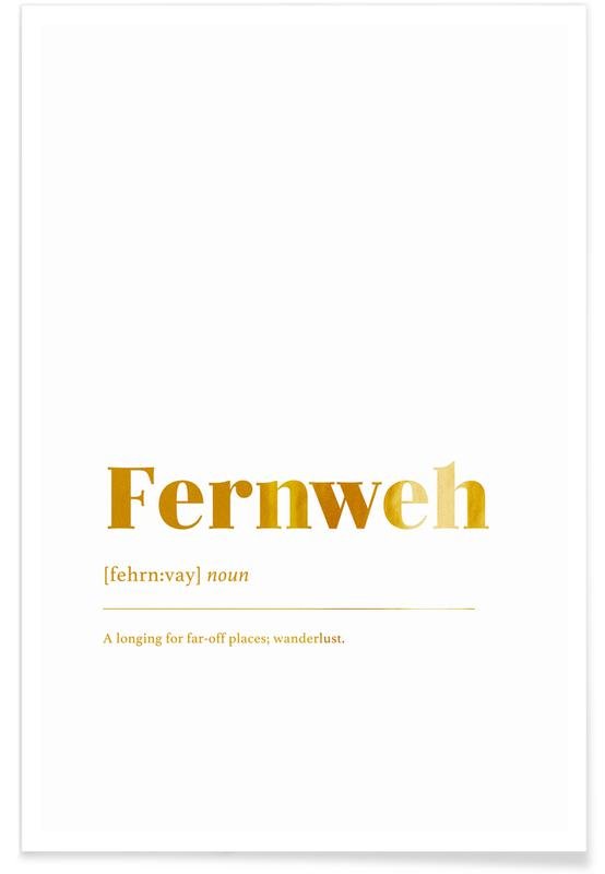Motivation, Fernweh-Gold -Poster