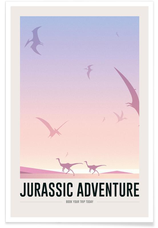 Kunst voor kinderen, Dinosaurussen, Jurassic Adventure II poster