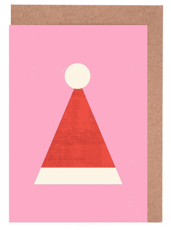 Weihnachten, Kinderzimmer & Kunst für Kinder, Santa Hat -Grußkarten-Set