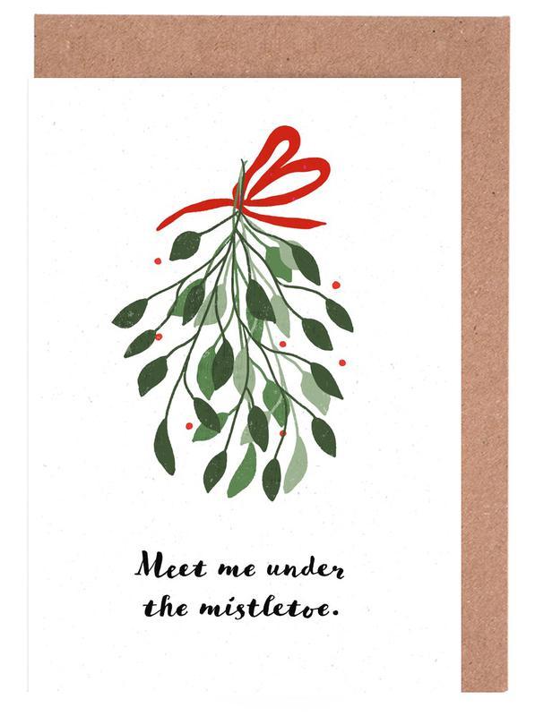Weihnachten, Mistletoe -Grußkarten-Set