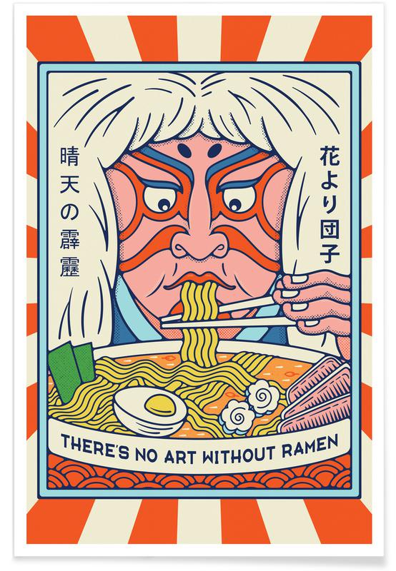Japanese Inspired, No Ramen No Art Poster