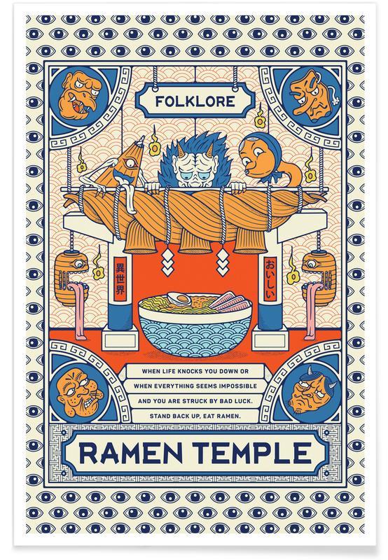 Japanisch inspiriert, Ramen Temple Folklore -Poster