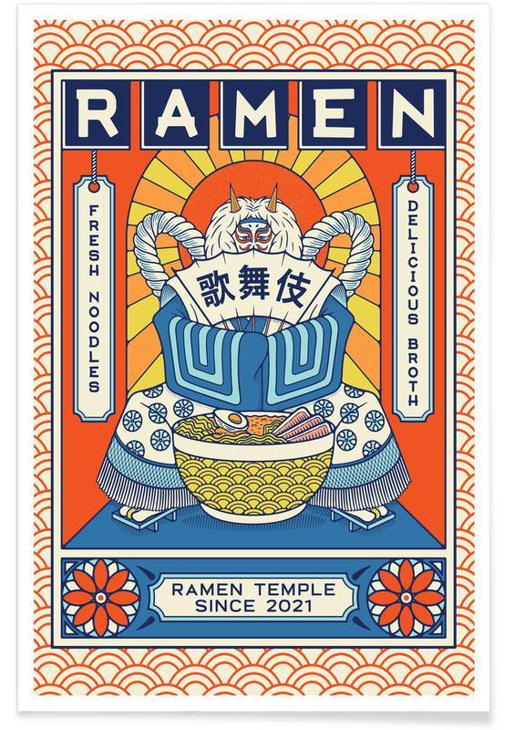 Japanisch inspiriert, Ramen Temple Broth -Poster