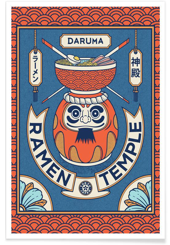 D'inspiration japonaise, Daruma affiche