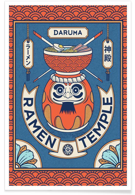Japanese Inspired, Daruma Poster