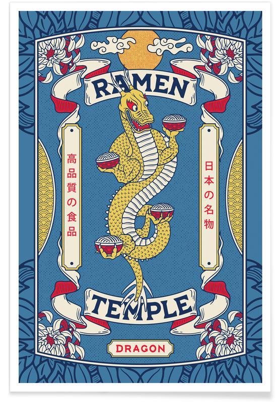 Japans geïnspireerd, Ramen Temple Dragon poster