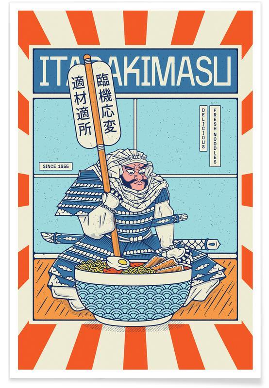 Japanese Inspired, Ramen Chef Poster