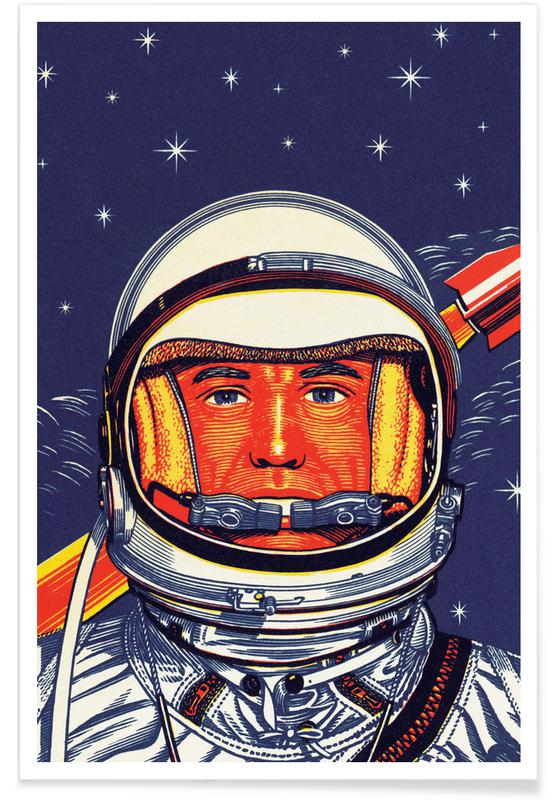 Japanese Inspired, Astronaut Poster