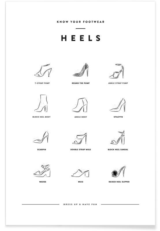 Noir & blanc, Heels Chart affiche