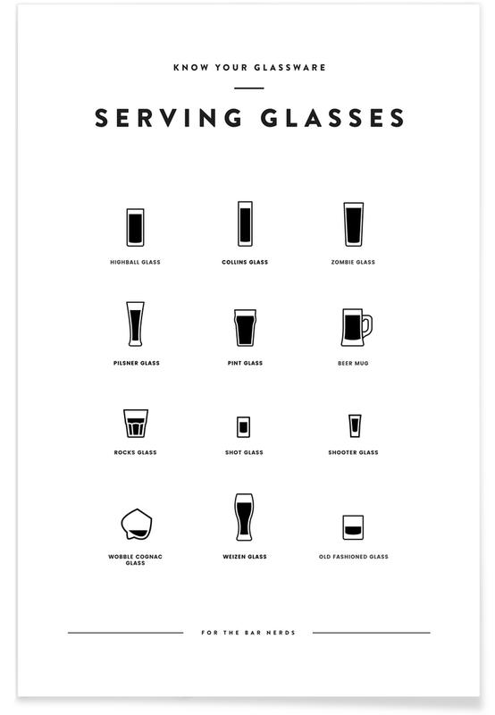 , Serving Glass Chart Poster