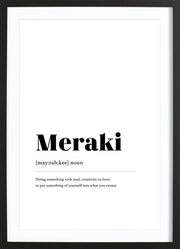 Meraki affiche sous cadre en bois