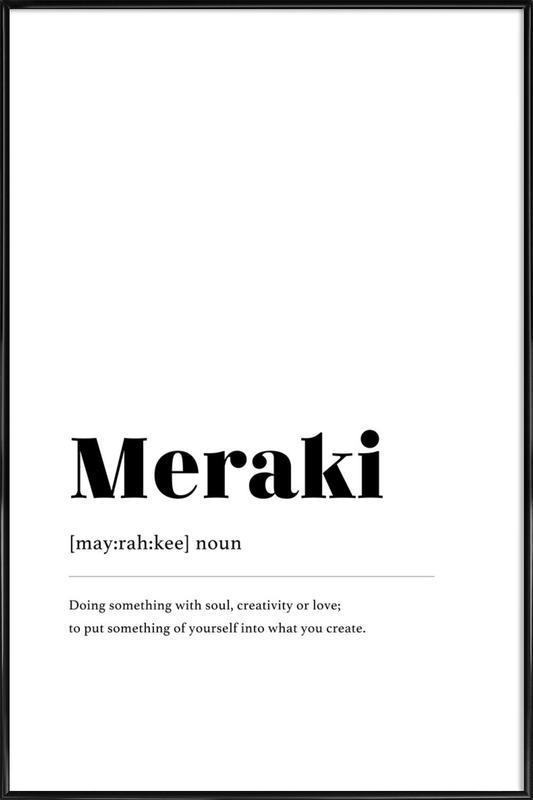 Meraki affiche encadrée