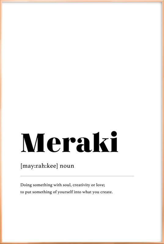 Meraki affiche sous cadre en aluminium
