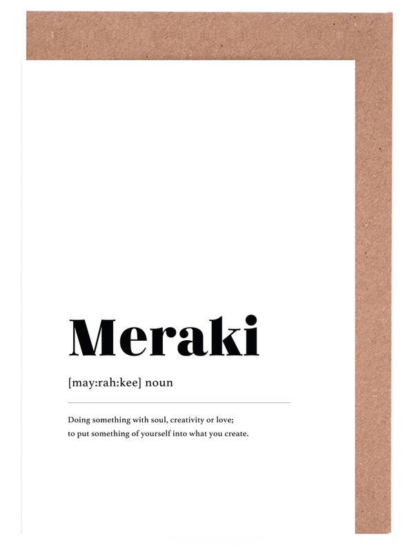 Meraki -Grußkarten-Set