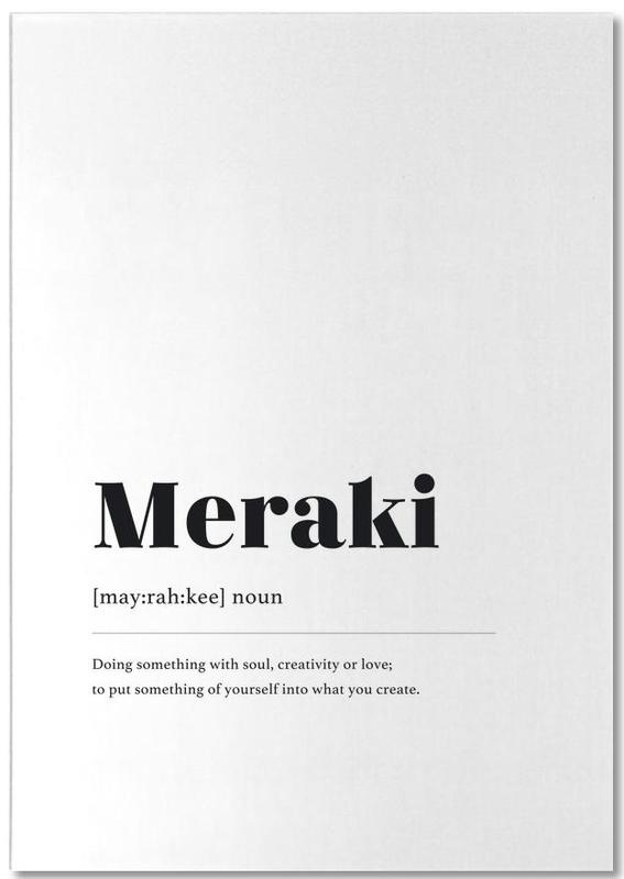 Schwarz & Weiß, Meraki -Notizblock