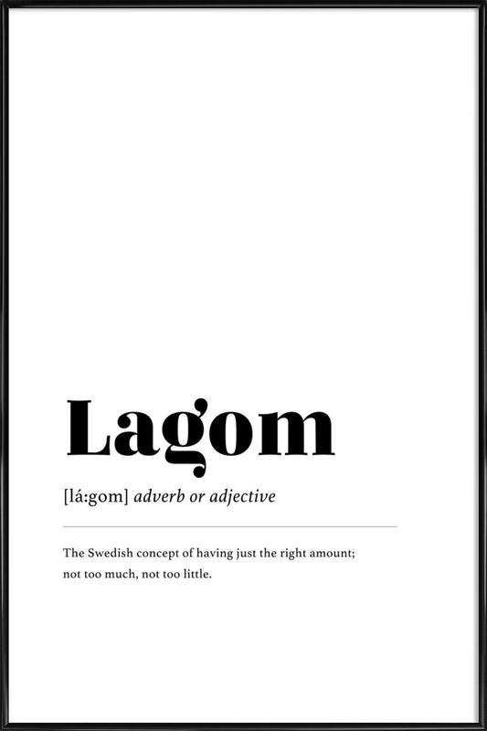 Lagom affiche encadrée