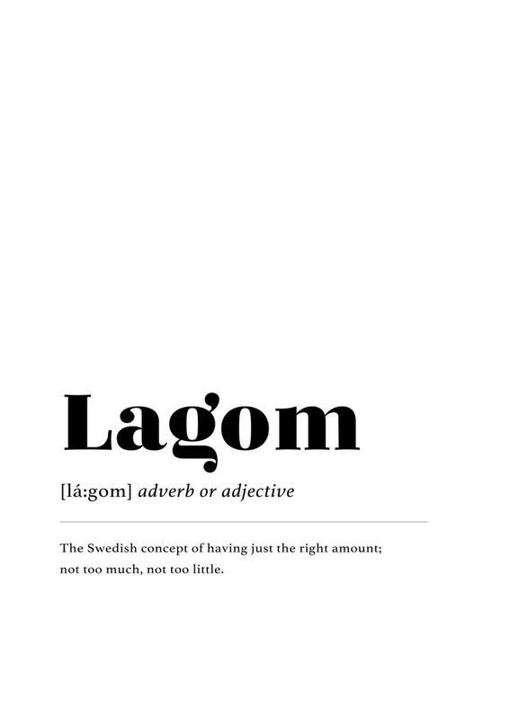 Lagom -Leinwandbild