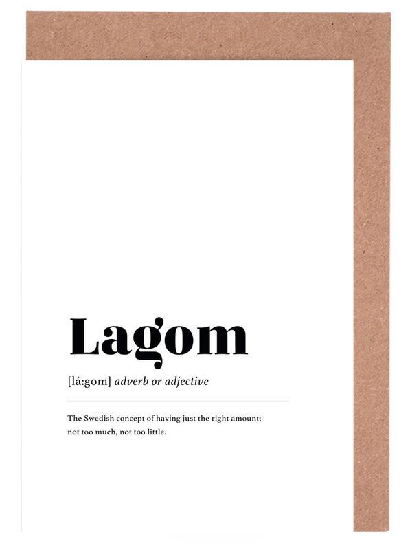 Lagom -Grußkarten-Set