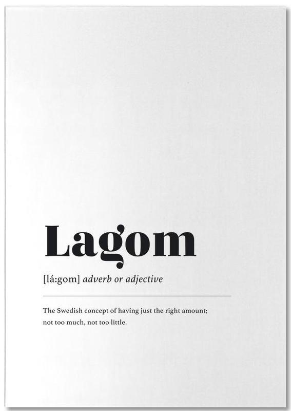 Lagom -Notizblock