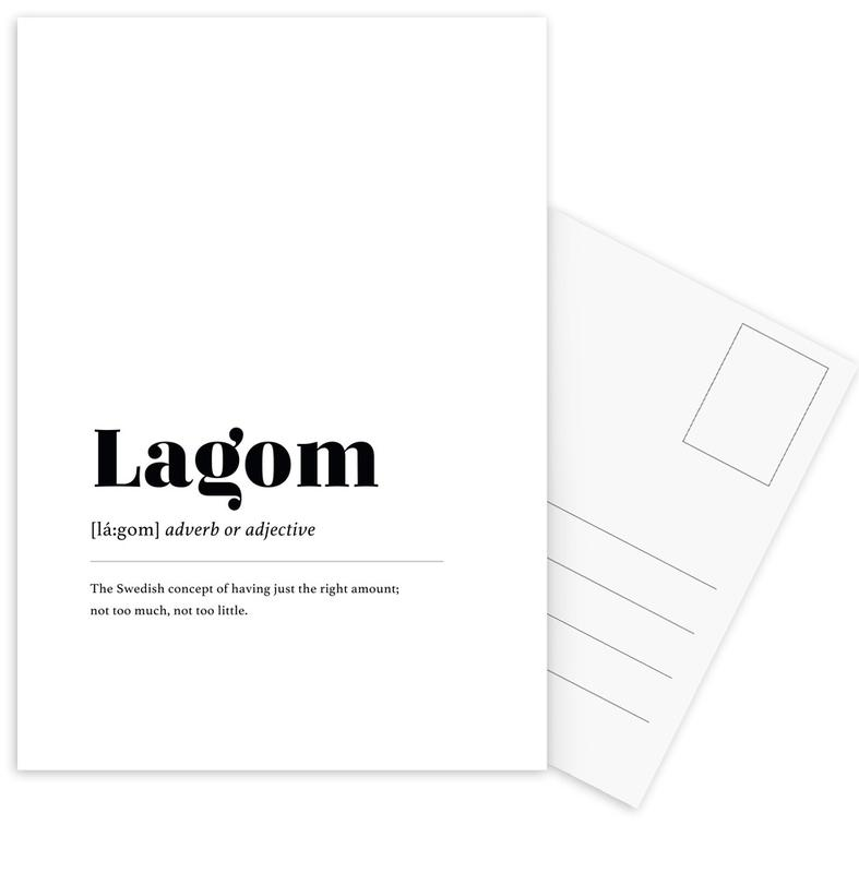 Lagom -Postkartenset