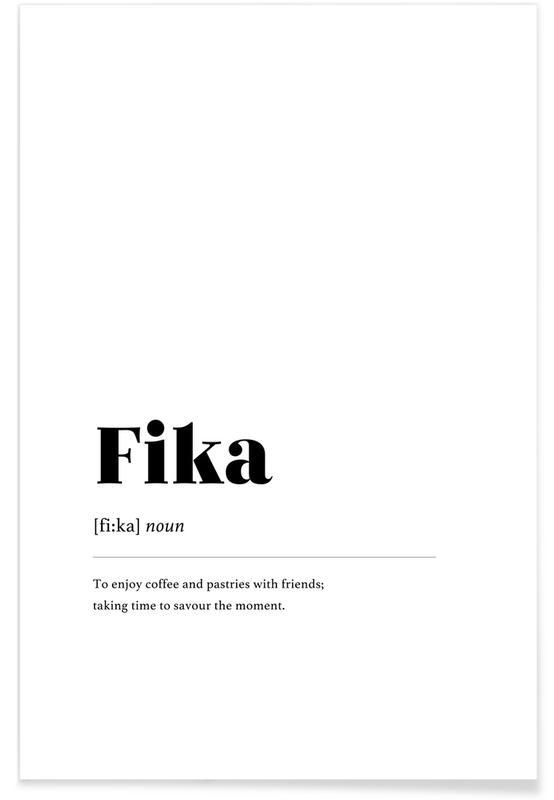 Sort & hvidt, Fika Plakat