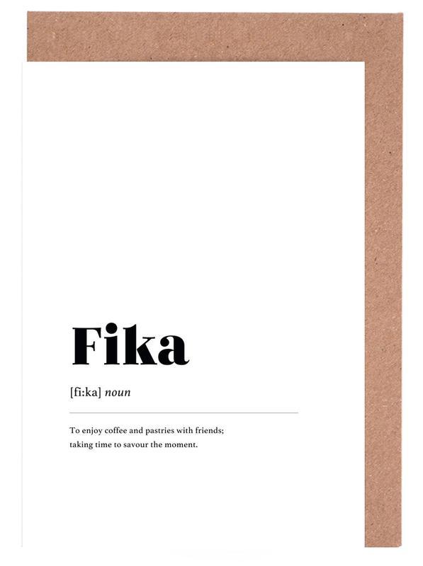Fika -Grußkarten-Set
