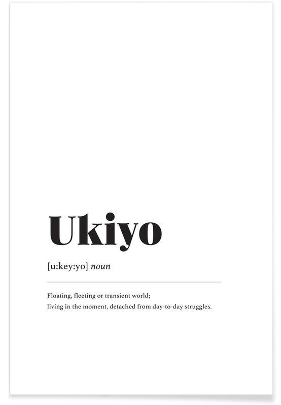 Sort & hvidt, Ukiyo Plakat