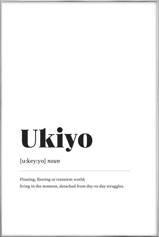 Ukiyo affiche sous cadre en aluminium