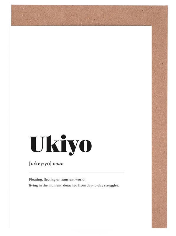 Schwarz & Weiß, Ukiyo -Grußkarten-Set