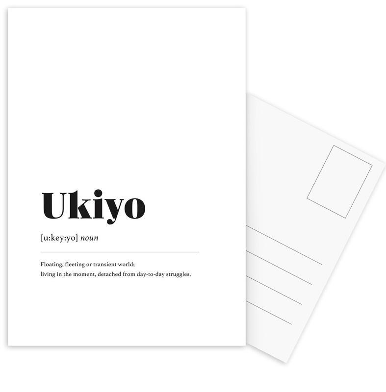 Ukiyo cartes postales