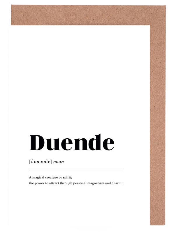 Schwarz & Weiß, Duende -Grußkarten-Set