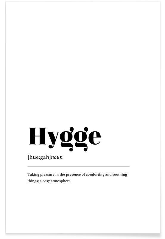 Sort & hvidt, Hygge Plakat